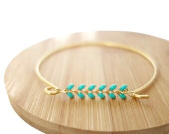 Corn Mint chain Bangle Bracelet