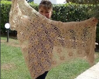 CROCHET PATTERN SHAWL  Josephine Shawl crochet pdf pattern Instant Download lace shawl for wedding braidsmaid Shawl crochet pattern