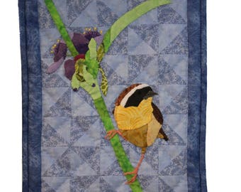 Digital Download Common Yellowthroat Pattern / Instant Art Quilt Pattern
