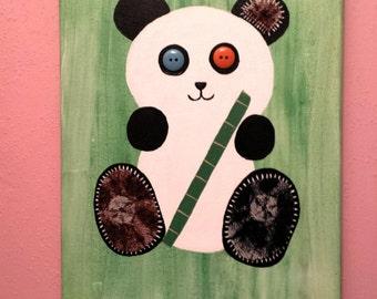 Panda nursery decor, Panda wall decor, Panda home decor, Patchwork panda, Patchwork Panda baby, Home decor, Wall decor, Nursery decor