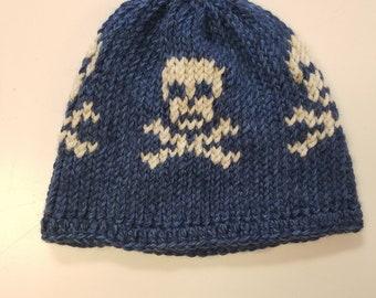 Skull and Crossbones Bad-Ass Knit Hat