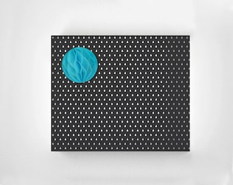 Raindrop Black Wrapping Paper Sheet - Rainy Day Wrapping Paper - Modern Gift Wrap