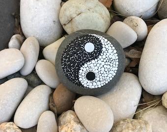 Yin Yang Rock Paperweight