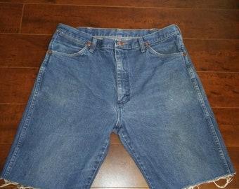 Closing Shop SALE Wrangler Jean shorts cut offs  W Waist 35 X 10