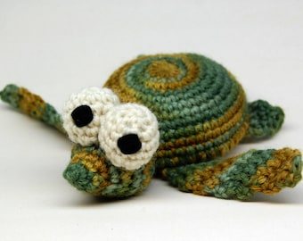 Crochet Baby Dude Sea Turtle Amigurumi Plush Toy PDF Pattern Download