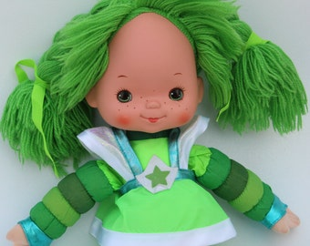 "Vintage Rainbow Brite, Large PATTY O'GREEN, 1983, 18"" Doll, Plush"