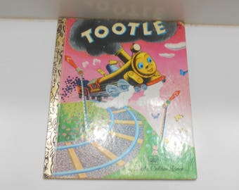 Vintage 1945 Copyright, 32nd Printing 1977, Tootle (26) A Little Golden Book