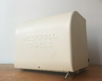 Industrial Chic.  Ivory Paper Towel Holder and Dispenser.  Westroll. August 1962.!