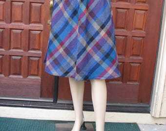 Vintage Wool Plaid Skirt by A. Byer