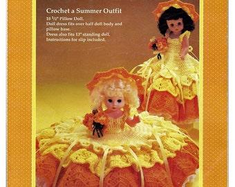 Merry Sunshine Pillow Doll, Music Box Doll, or Bed Doll Crochet Pattern Fibre Craft FCM197
