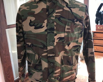 Camouflage Long Sleeve Shirt Top