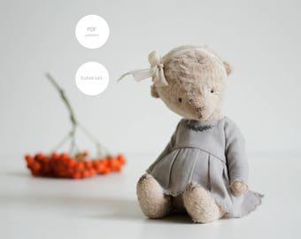 Pdf Sewing Pattern & Tutorial Mohair Teddy Bear 7 Inches Artist Teddy Bear Pattern Stuffed Animal Pattern For Women Plush Pattern Soft Toys