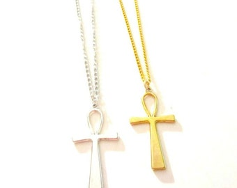 Ankh Gold Ankh Necklace Africa Jewelry Ankh Jewelry Silver