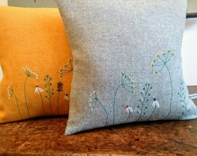 Hand Crafted Harris Tweed summer meadow cushion cover