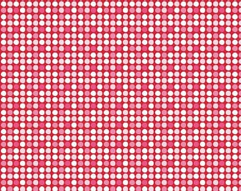 Dot Red Holiday Basic - Riley Blake Designs - pink Christmas Polka Dot - Quilting Cotton Fabric - choose your cut