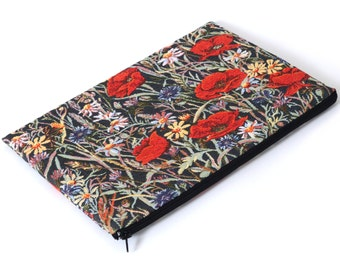 VENTE ! MacBook 15 rétine manchon affaire couverture rembourrée sac coquelicots rouges coquelicot