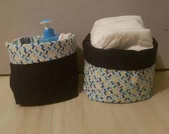 Fabric baskets set
