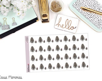 """SAMMIE SNARK SEED: """"Mini-Snark Seed in Training"""" Paper Planner Stickers"""