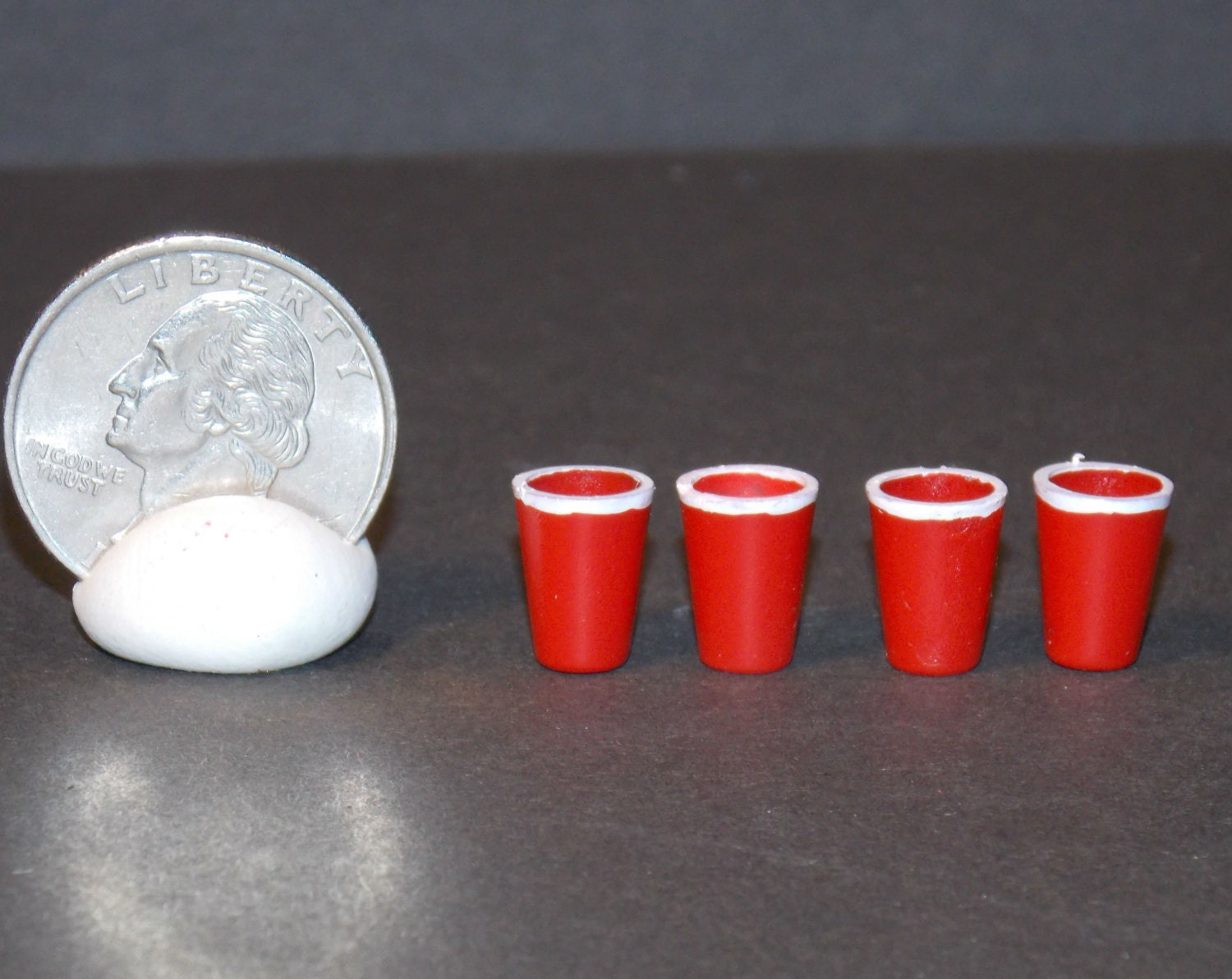 Dollhouse miniature mini red solo cups 112 one inch scale zoom arubaitofo Image collections