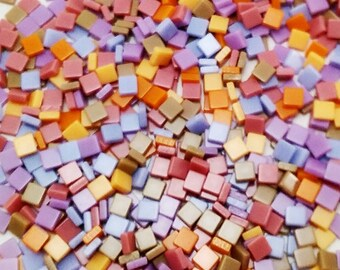 Mixed colours resin mosaic tiles