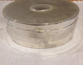 vintage oval lidded box