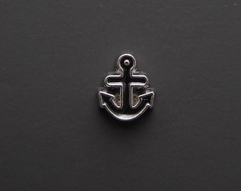 Anchor  Charm - Memory Lockets - Fits 25 and 30mm Floating Memory Lockets