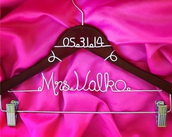 Wedding Dress Hanger with Clips, Pant Clips, Skirt Clips