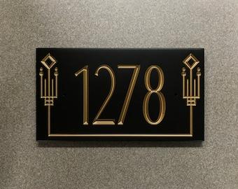 Frank Lloyd Wright Address Sign