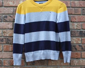 Vintage Tommy Hilfiger Striped Sweater Women's  12/14 Medium