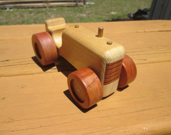 Wooden Toy Little  Ford Tractor