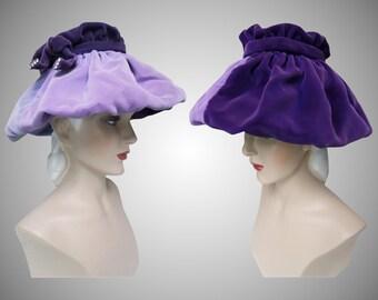 Vintage 1950s Hat //50s Hat//Lavender//Designer// Femme Fatale//Mad Men//Rockabilly//Purple