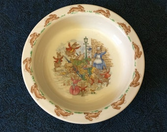 Vintage Royal Doulton Bunnykins Bowl, Childrens Dishes