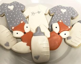Gender Neutral Baby Cookies - One Dozen