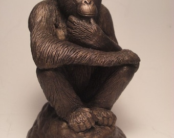 Chimpanzee Sculpture Primal Thinker