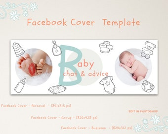 Baby Facebook Group Cover Template, Facebook Cover Template, Facebook Banner, Facebook Timeline, Facebook Template, INSTANT DOWNLOAD
