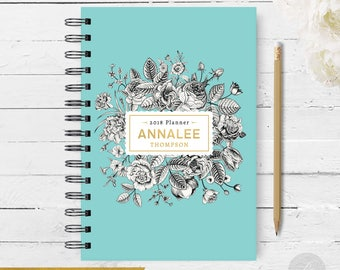 2018 Monthly Planner #14 - Hardcover - Coil Bound - Tabbed - Weekly Planner