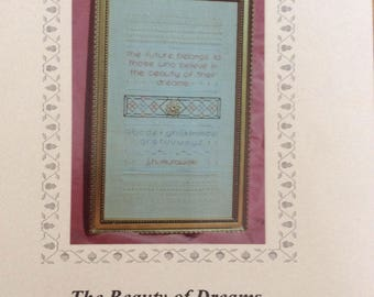 The Beauty of Dreams/Counted Cross Stitch Pattern by Sam-Cloth Designs/1994/Sampler/Needlecraft