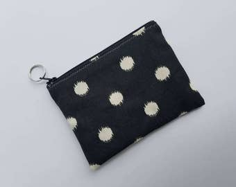 Keychain Coin Purse/Canvas Coin Pouch/Women Change Purse/Card Holder/Coin Bags