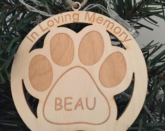 Custom pet memorial ornament