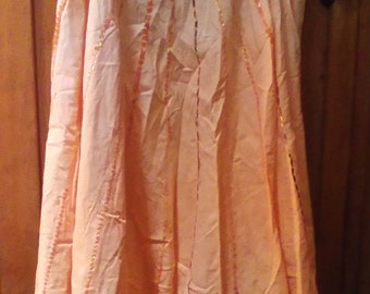NWOT  Vintage Cotton Skirt With Sequins Size Large
