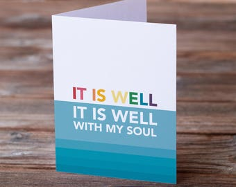 It Is Well With My Soul • Hymn Greeting Card