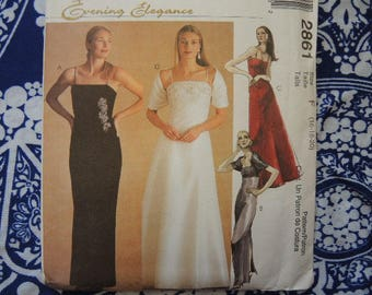 McCalls sewing pattern 2861 misses evening gown UNCUT size 16-18-20
