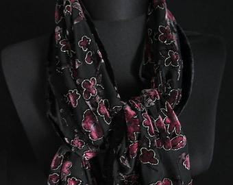 Vintage partly transparent shawl