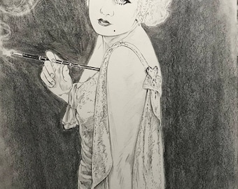 Jean Harlow Portrait Drawing