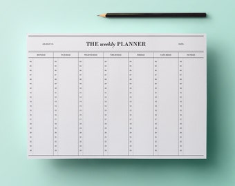 50% SALE | Weekly planner - hours (4 am to 12 am) #1 | Cute Stationery