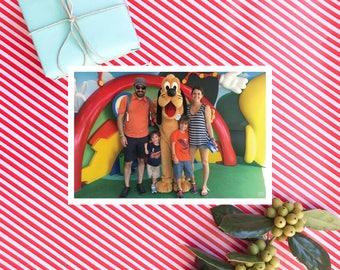 Photo Christmas Card.  A2 Size Postcard.