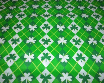 St. Patrick's Day Fabric Luck of the Irish Shamrocks By The Fat Quarter New BTFQ