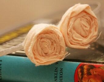 THE MOLLIE in peach -  beautiful peach double Rosette Headband / Hair piece