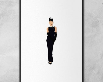 Breakfast at Tiffany's | Audrey Hepburn | Minimal Artwork Poster