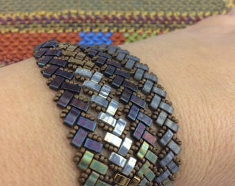 Tutorial for Herringbone Wrap Bracelet with Half Tilas
